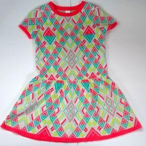 Cat & Jack Short Sleeve Geometric Dress Size S Kid